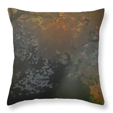 Crystal Tree Top Throw Pillow by Kat Besthorn