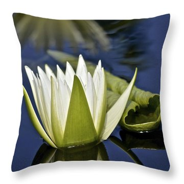 Crystal Waterlily Reflections Throw Pillow