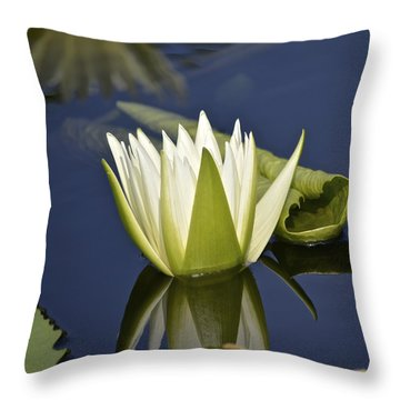 Crystal Waterlily Throw Pillow