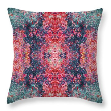 Crystalline Being Throw Pillow