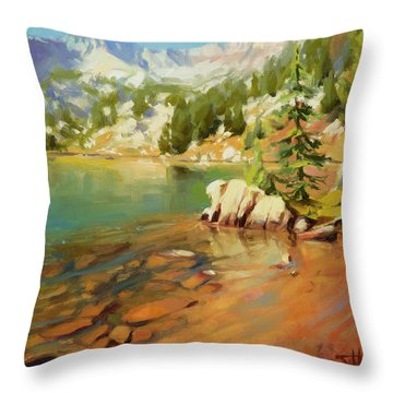 Crystalline Waters Throw Pillow
