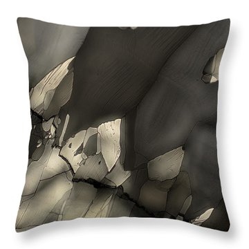 Falling Crystals Throw Pillow