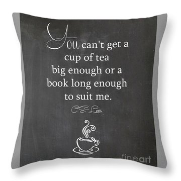 Cs Lewis Cup Of Tea Throw Pillow