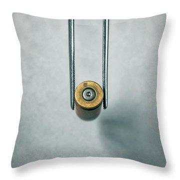 Csi Bullet Shell Evidence  Throw Pillow