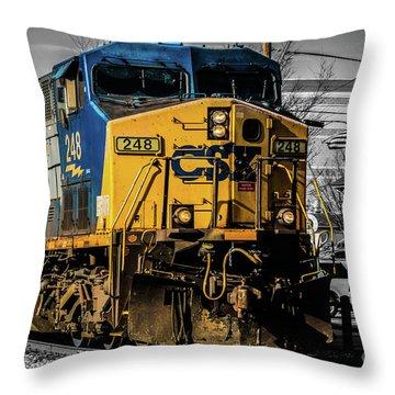 Csx Engine Gaithersburg Md Throw Pillow