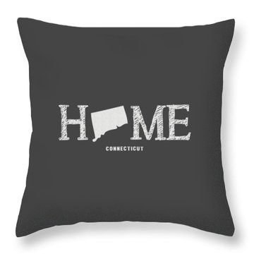 Throw Pillow featuring the mixed media Ct Home by Nancy Ingersoll