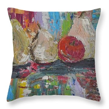 Cuatro Throw Pillow by Judith Espinoza