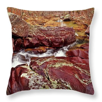 Cub Creek Shut-ins Throw Pillow by Robert Charity