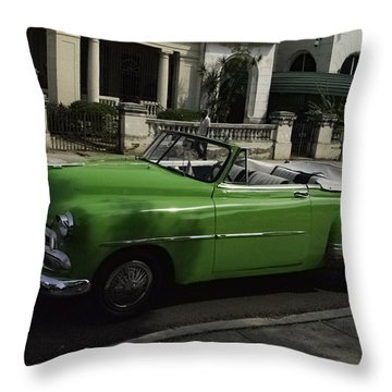 Cuba Car 3 Throw Pillow by Will Burlingham