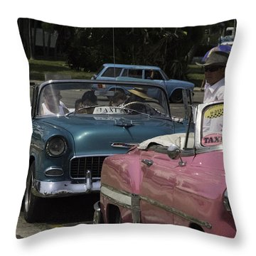 Cuba Car 4 Throw Pillow by Will Burlingham