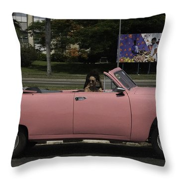 Cuba Car 5 Throw Pillow by Will Burlingham