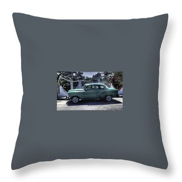 Cuba Car 8 Throw Pillow by Will Burlingham