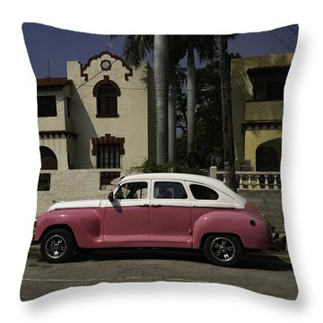 Cuba Car 9 Throw Pillow by Will Burlingham