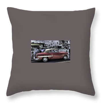Cuba Cars 2 Throw Pillow by Will Burlingham
