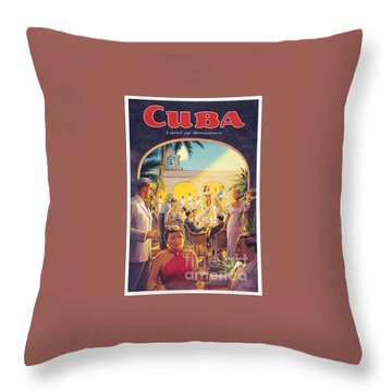 Cuba-land Of Romance Throw Pillow