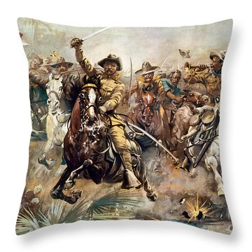 Cuba: Rough Riders, 1898 Throw Pillow