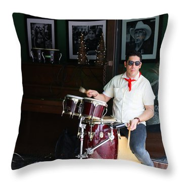 Cuban Band Throw Pillow