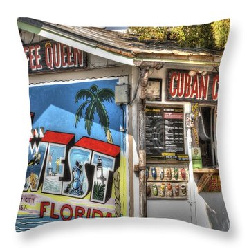 Cuban Coffee Queen Throw Pillow