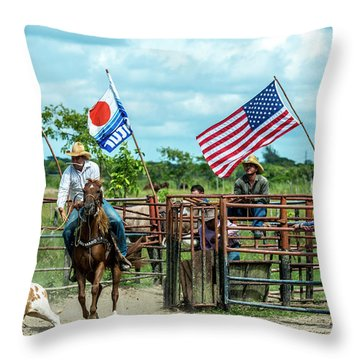 Cuban Cowboys Throw Pillow