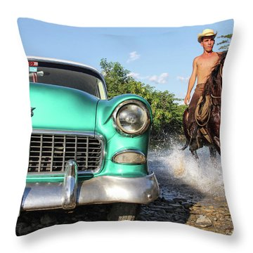 Cuban Horsepower Throw Pillow