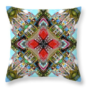 Cuban Kaleidoscope Throw Pillow