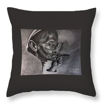 Cuban Old Lady Throw Pillow