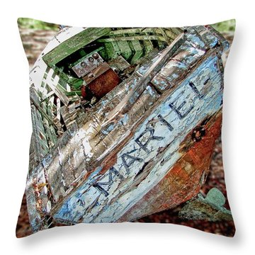 Cuban Refugee Boat 3 The Mariel Throw Pillow