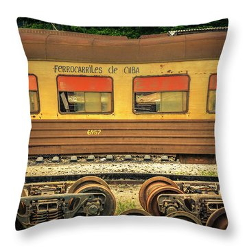 Cuban Train Throw Pillow