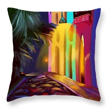 Cubano Street Throw Pillow