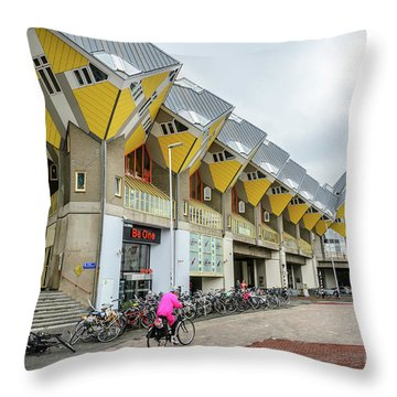 Throw Pillow featuring the photograph Cube Houses In Rotterdam by RicardMN Photography