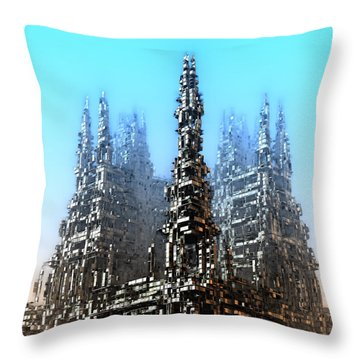 Cube Towers Throw Pillow