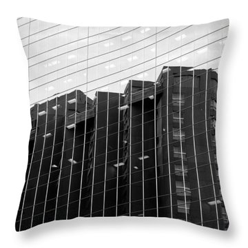 Throw Pillow featuring the photograph Cubicle Farm by Valentino Visentini