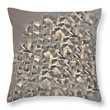 Cubism Throw Pillow by Angel Jesus De la Fuente