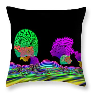 Cubistrain Throw Pillow