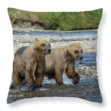 Cubs On The Prowl Throw Pillow