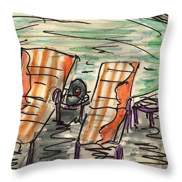 Lounge Chairs Throw Pillow