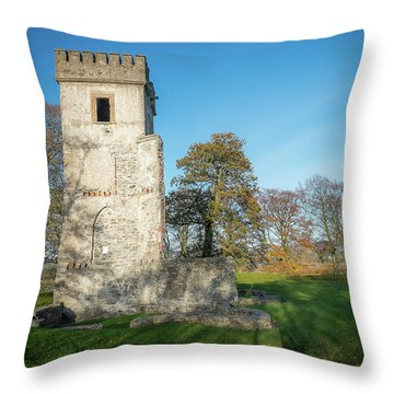Cuchulains Castle Throw Pillow by Marty Garland