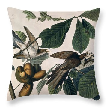 Cuckoo Throw Pillow by John James Audubon