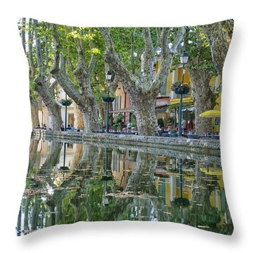 Cucuron L'etang Throw Pillow