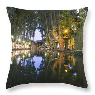 Throw Pillow featuring the photograph Cucuron Village Provence  by Juergen Held