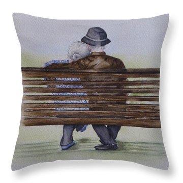 Cuddling Is Ageless Throw Pillow