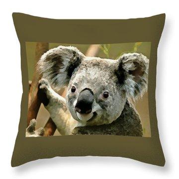 Cuddly Koala Throw Pillow