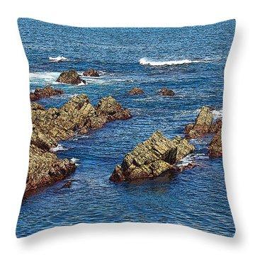 Cudillero Throw Pillow by Angel Jesus De la Fuente