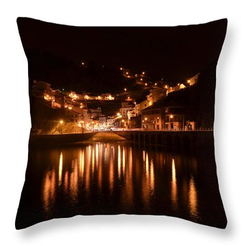 Cudillero Night Throw Pillow