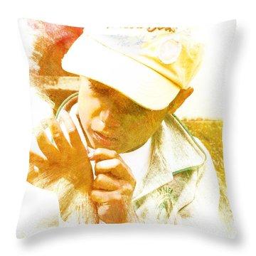 Cuenca Kid 902 - Adinea Throw Pillow by Al Bourassa
