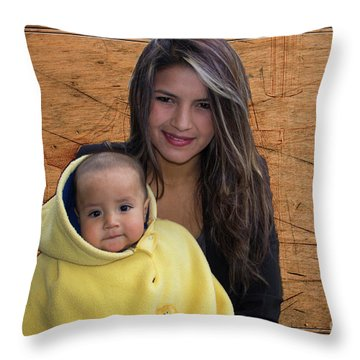 Cuenca Kids 878 Throw Pillow by Al Bourassa