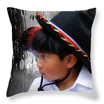 Cuenca Kids 880 Throw Pillow by Al Bourassa