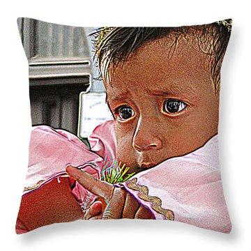 Cuenca Kids 881 Throw Pillow by Al Bourassa