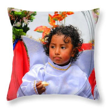 Cuenca Kids 882 Throw Pillow by Al Bourassa