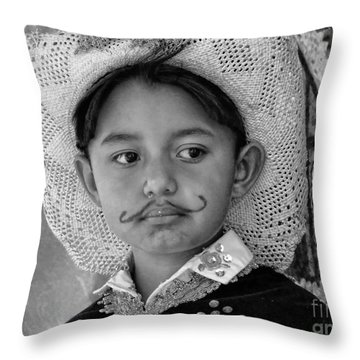 Throw Pillow featuring the photograph Cuenca Kids 883 by Al Bourassa